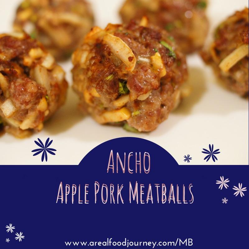 Ancho Apple Savory Pork Meatballs