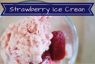 Strawberry Ice Cream- Sweetener Free