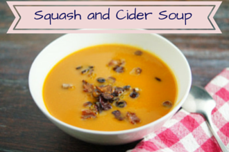 Squash and Cider apple soup