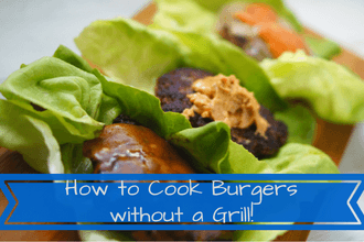 how to cook a burger without a grill on the stove oven rain