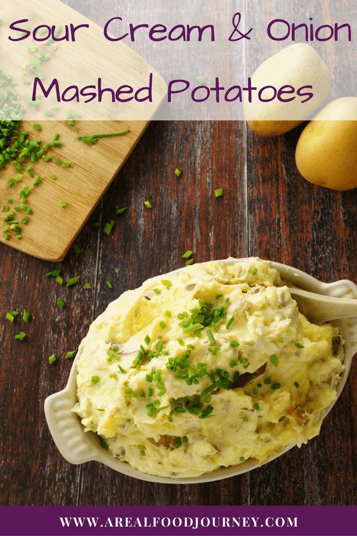 Sour Cream and Onion Mashed Potatoes