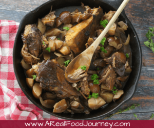 Beef Shank Cross Cut Recipe in the slowcooker or crockpot.