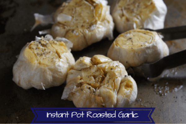 Simple and quick roasted garlic spread made in the instant pot