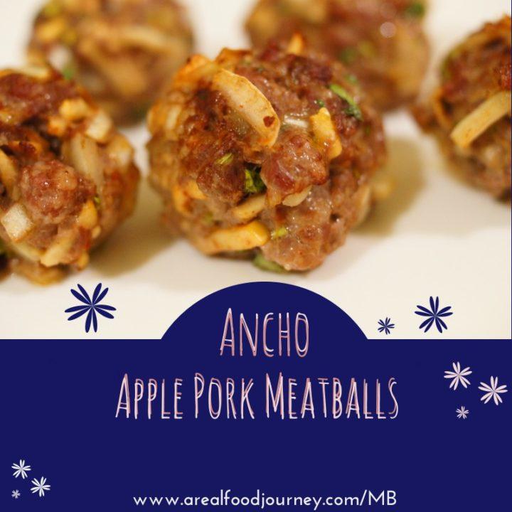 Ancho Apple Pork Meatballs!