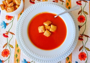 Tomato-Soup-with-Herb-Cheese-Biscuit-Croutons-Syrup-and-Biscuits