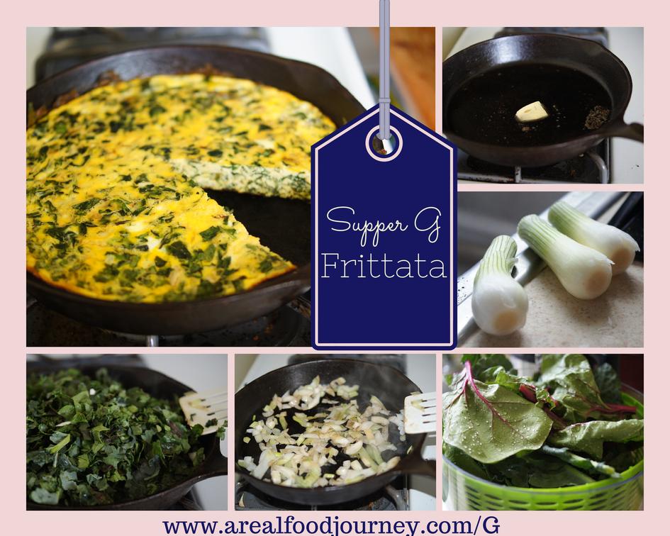 kale spinach fritatta