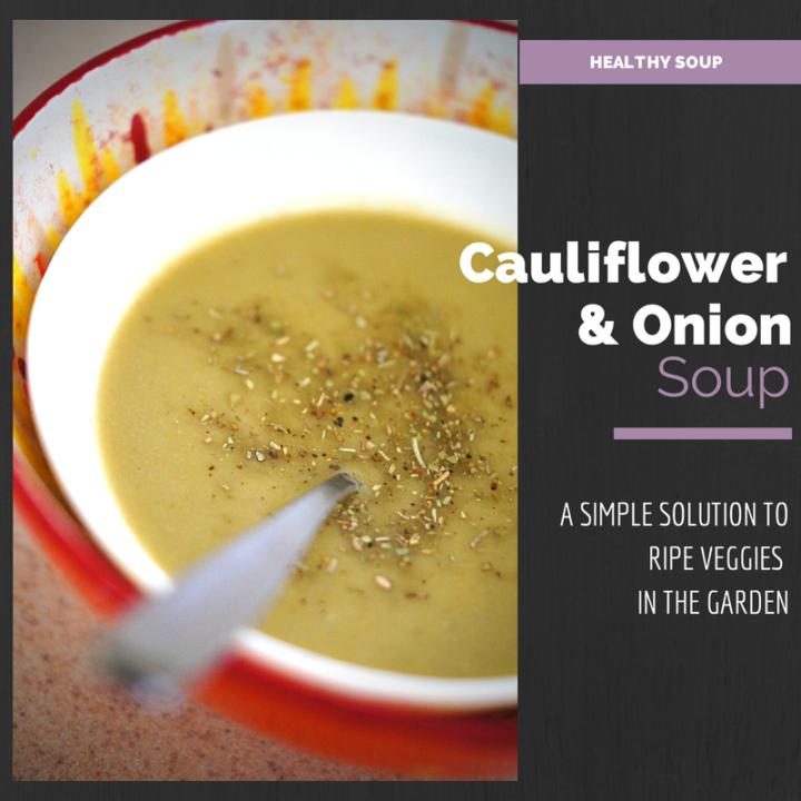 Sweet an Spicy Pureed Cauliflower Soup
