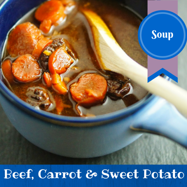 Paleo Beef, Carrot and Sweet Potato Soup