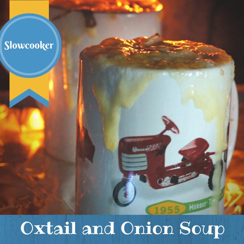 Crockpot paleo soup oxtail and onion