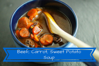 Paleo beef stew with carrots and sweet potatoes