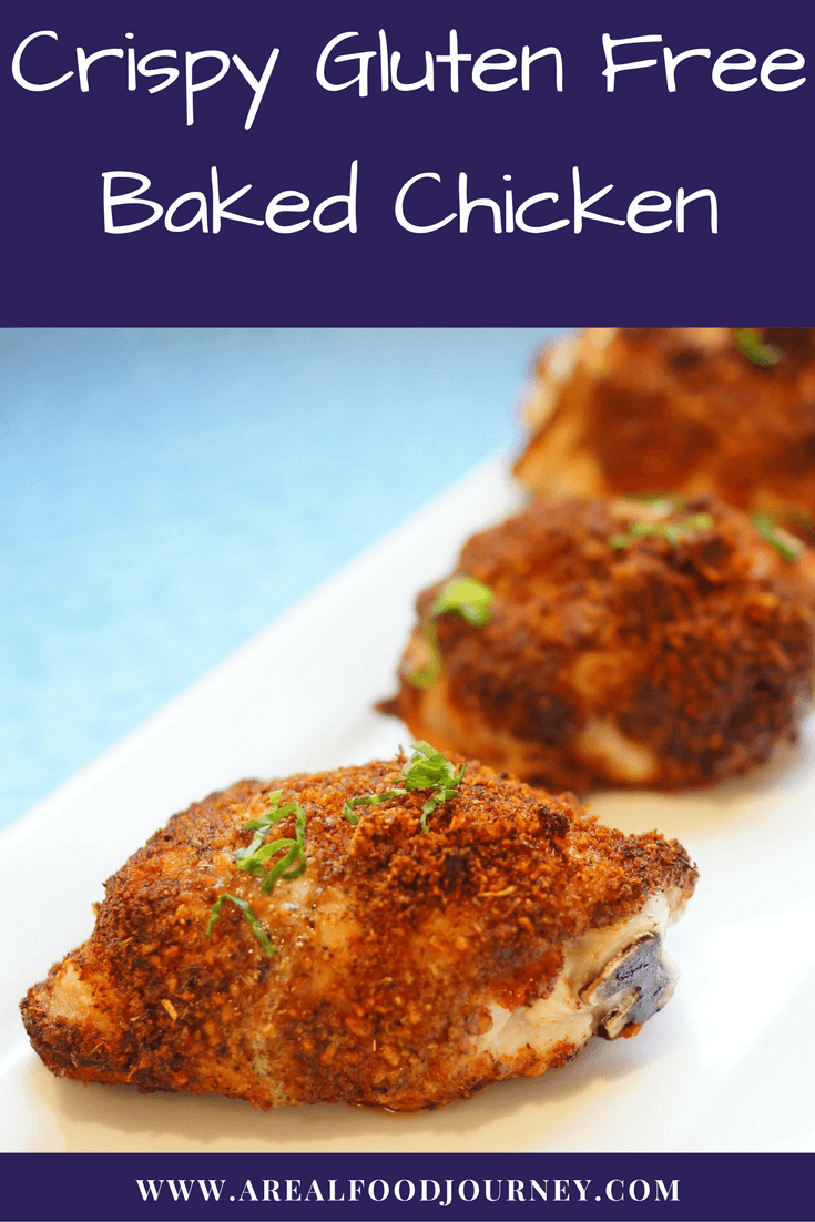 Learn how to make a truly crispy baked chicken! Gluten free!