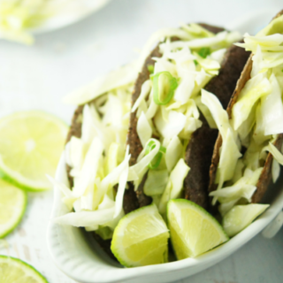Tacos with Lime Cabbage Slaw