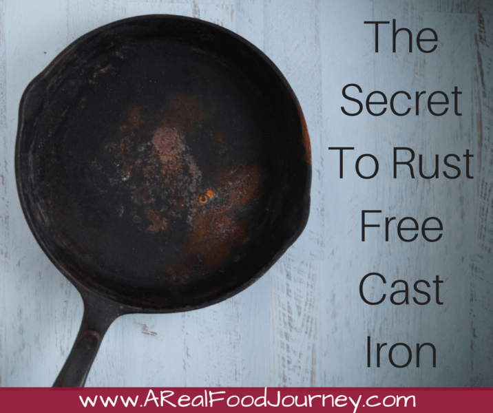How to remove rust from a cast iron skillet.