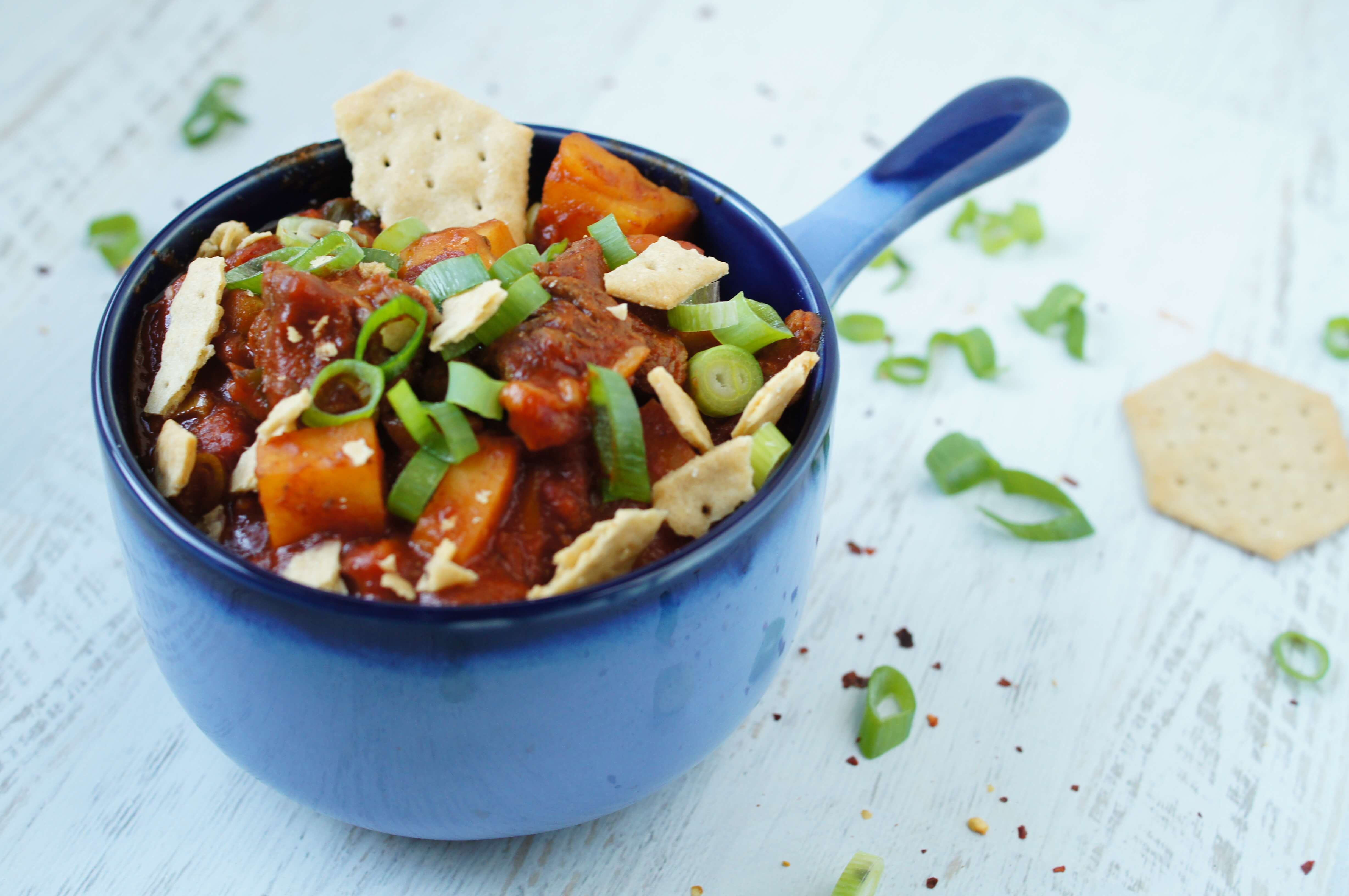 Paleo Chili with Sweet Potatoes