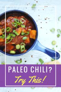 Paleo Chili with Sweet Potatoes