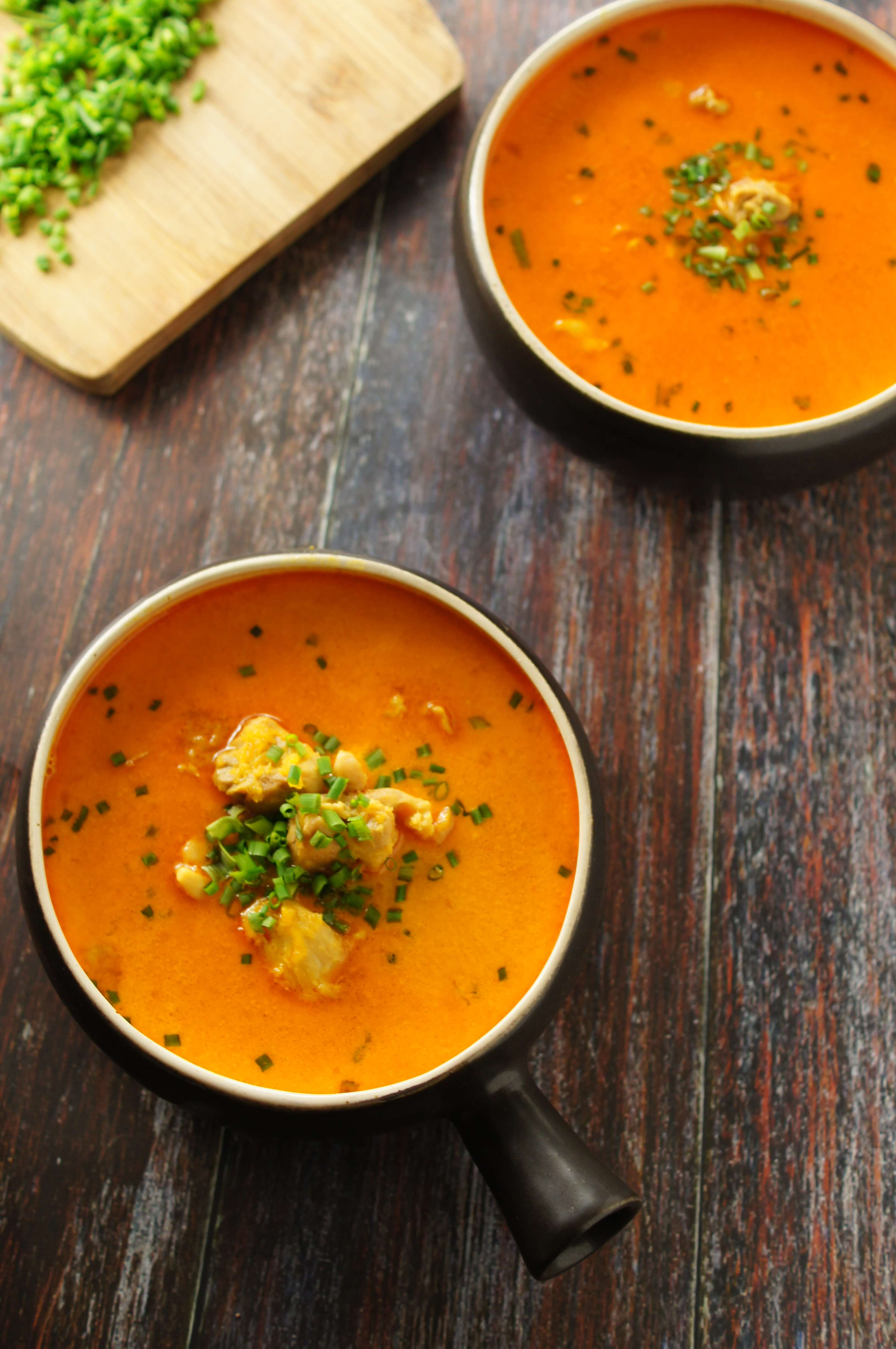 curried pumpkin soup with chicken