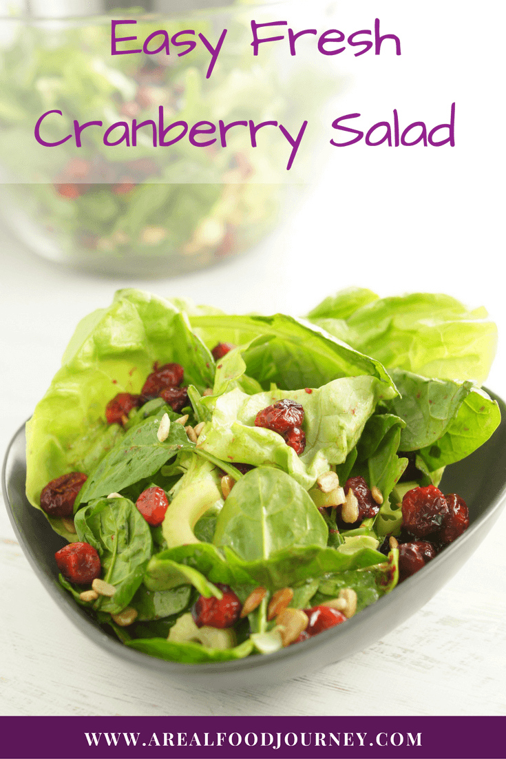 Finally and easy cranberry salad recipe that tastes good! Add a little punch to basic green salad with roasted cranberries and a little cinnamon!