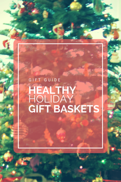 Ideas for healthy holiday gift baskets. A gift guide for all the health enthusiasts in your life! www.arealfoodjourney.com
