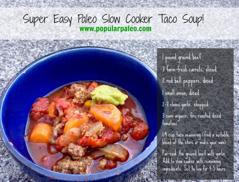Simple Taco Soup in the Slowcooker!
