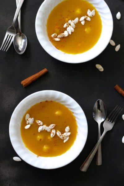 Korean Pumpkin Soup vegetarian