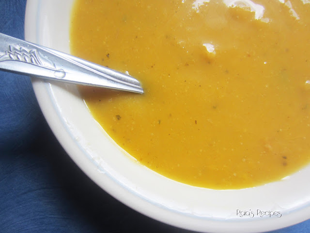 Gluten Free Vegetarian Squash and apple soup