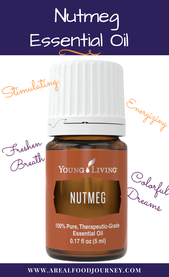 learn all about nutmeg essential oil. It is energizing for the brain and body!