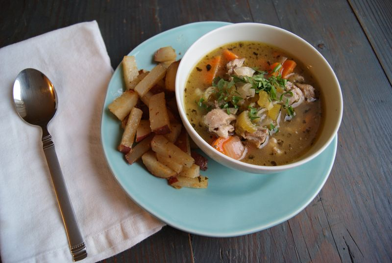 Chicken and fennel gluten free soup