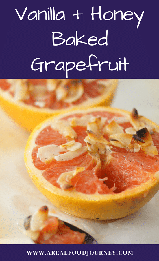 honey baked grapefruit, baked grapefruit, broiled grapefruit, paleo breakfast