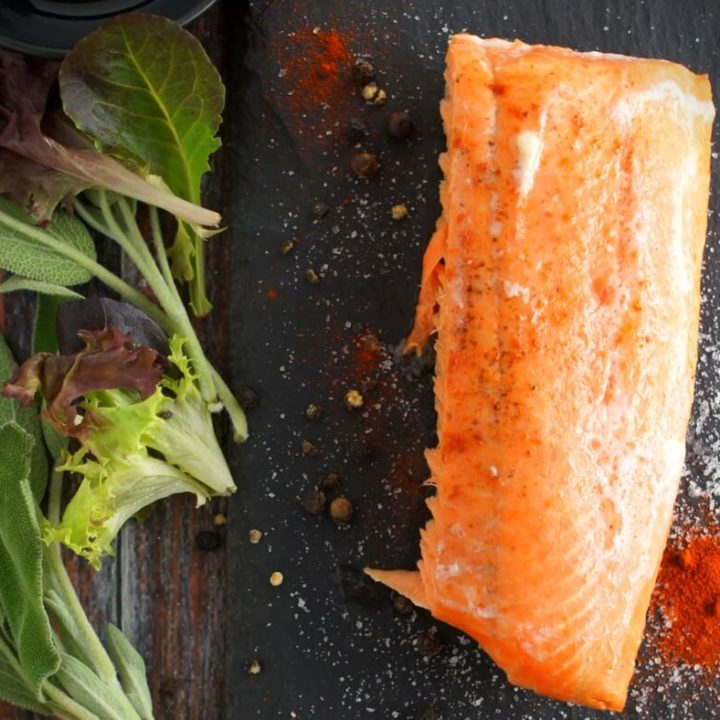 Oven Baked Salmon with Bacon