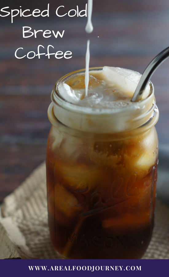 spiced coffee recipe, cold brew recipe, cold brew iced coffee