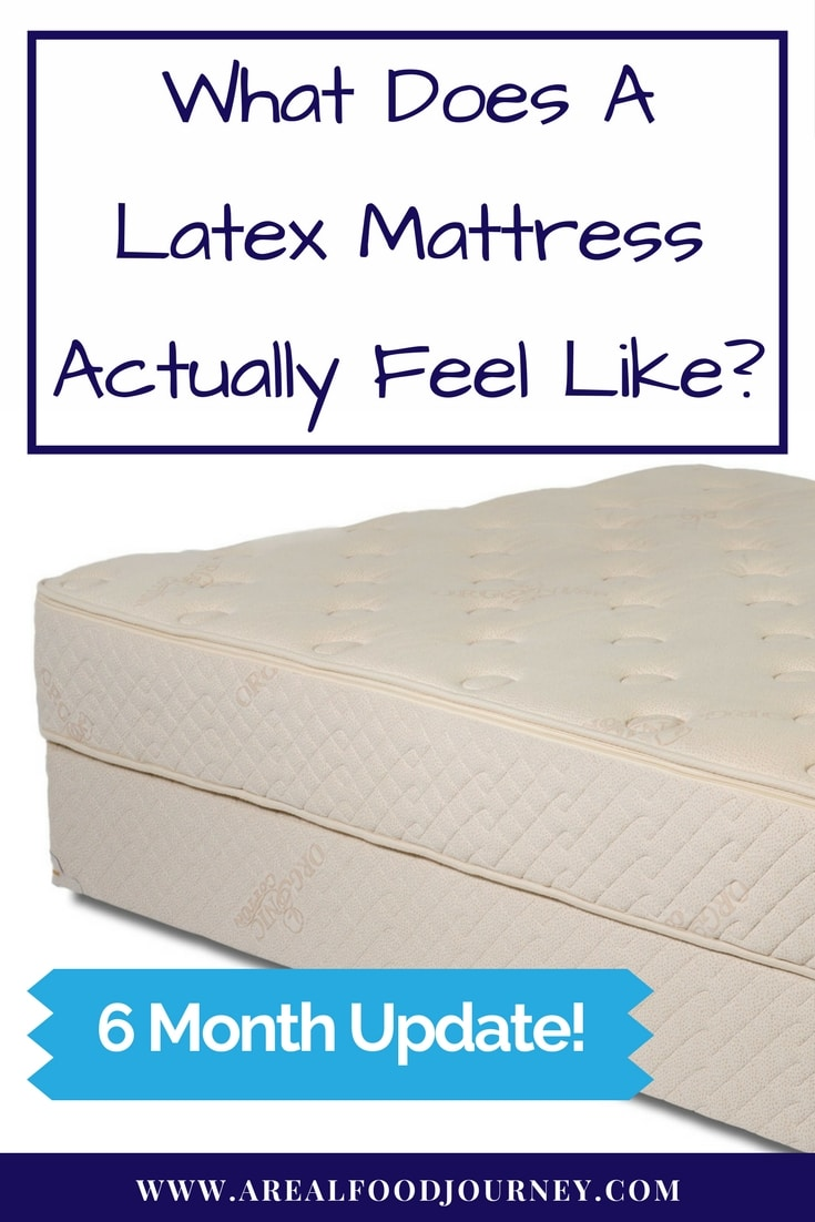 A natural latex mattress on a white background