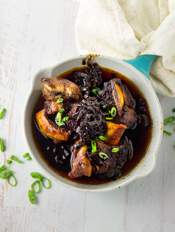Keto Instant Pot Short Ribs with Balsamic Onions