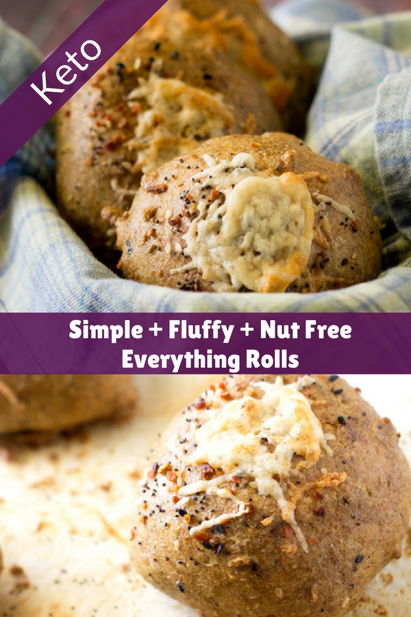 Keto Rolls made nut free with everything seasoning
