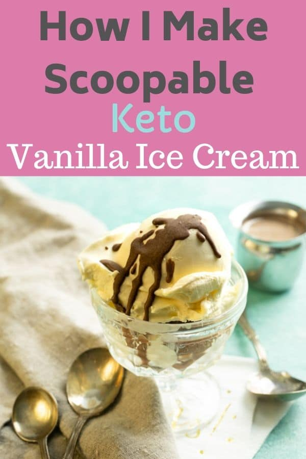 Delicious and sugar free healthy homemade vanilla ice cream. Finally a homemade ice cream that isn't hard as a rock! easy to make healthy ice cream recipe that is low carb and keto as well. #healthyicecream #healthyicecreamrecipes #healthyhomemadevanilla #vanillaicecream #ketoicecream