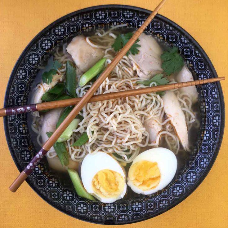Chicken Ramen Soup [Low Carb & Keto] - Resolution Eats