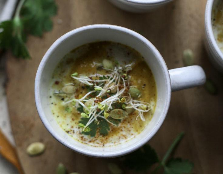 Curried Cauliflower Pumpkin Soup
