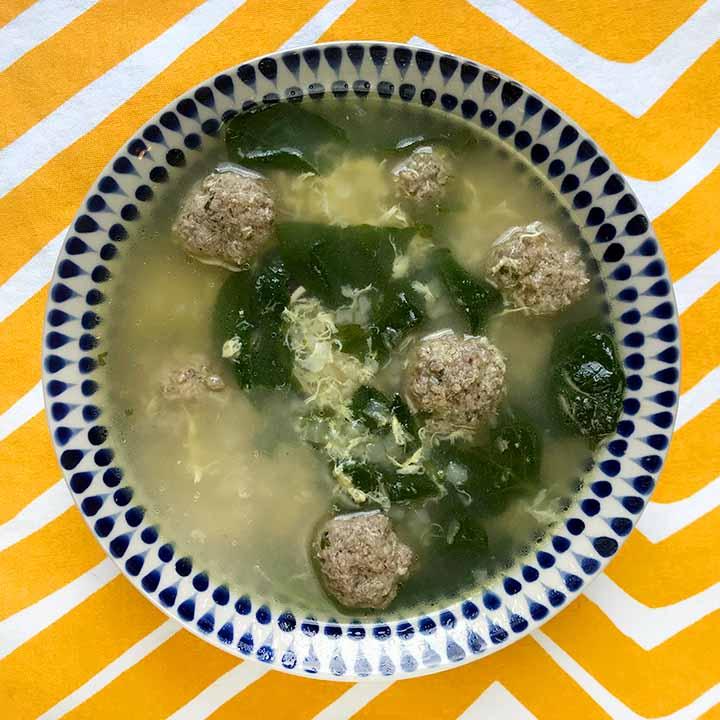 Italian Meatball Soup [Low Carb & Keto]